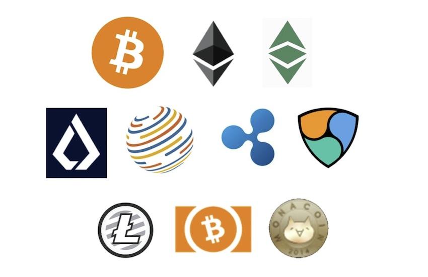 10種類の取扱仮想通貨